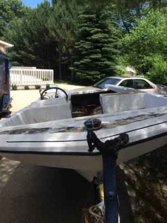 Free trailer with boat