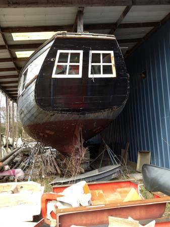 Free old wood boat