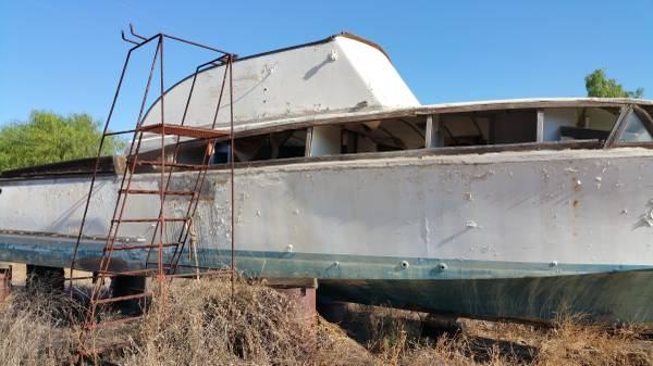 Salvage 30 Ft Boat with hardware