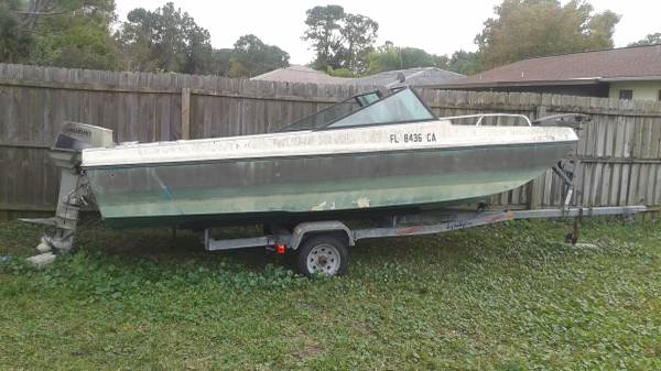18' project boat. Engine only