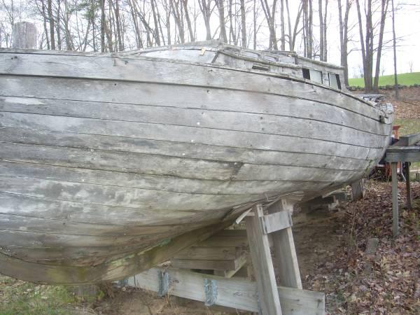 Solid Mahogany Hull Sailboat