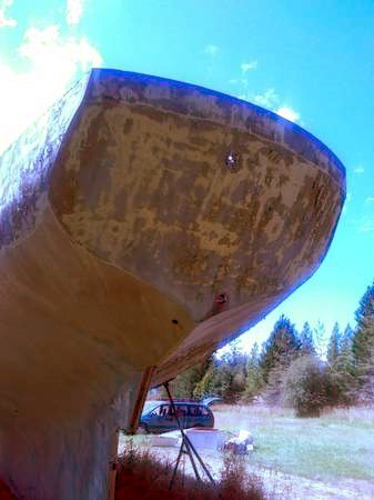 50 foot ferro-cement boat hull