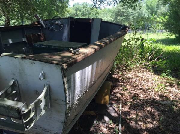 wooden boat. Needs work
