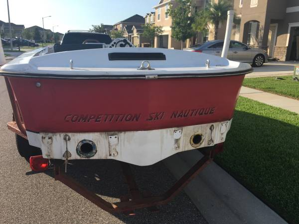1985 correct craft ski Nautique Ski boat. Boat is hull and some misc parts.