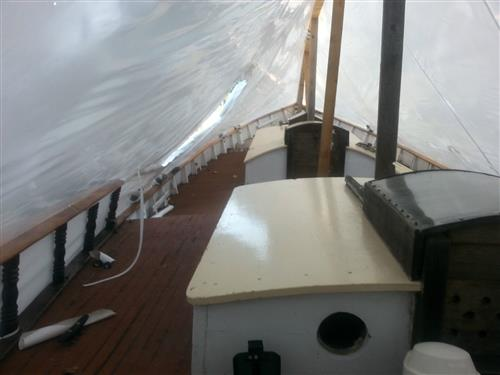 1970 Custom Colvin Design 37' Ferro Cement Sailboat midship