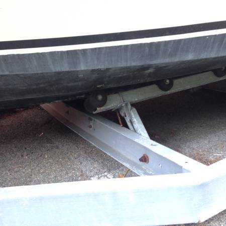 Boat and trailer , trailer rollers