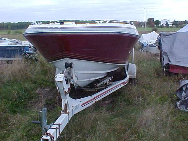 1989 20 ft deep wide Inboard outboard runabout open bow all around Boat. Whats free is the Hull only.
