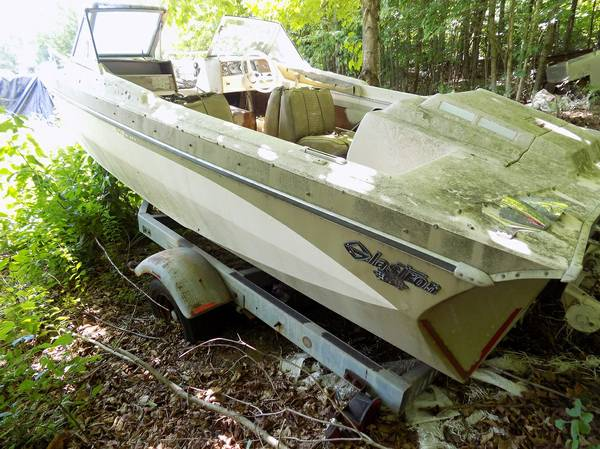 Shoreline Boat Trailer and old boat