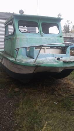 1966 Power Cat. 23' tri-hull bow