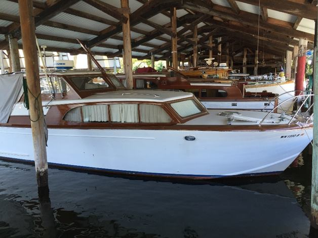 1957 35' classic wood hull cabin cruiser