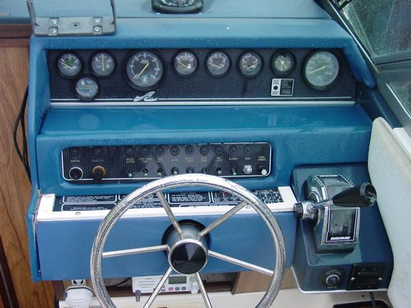 250 Cuddy Cabin boat working dials