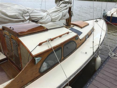 25' Wooden sloop built in Holland 1954 with sails starbird side