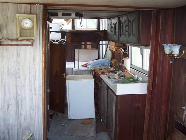 Houseboat interior rebuild project