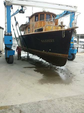 47' Antique Wooden Boat