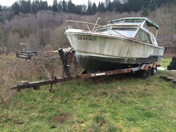 Free boat and trailer needs some work but solid