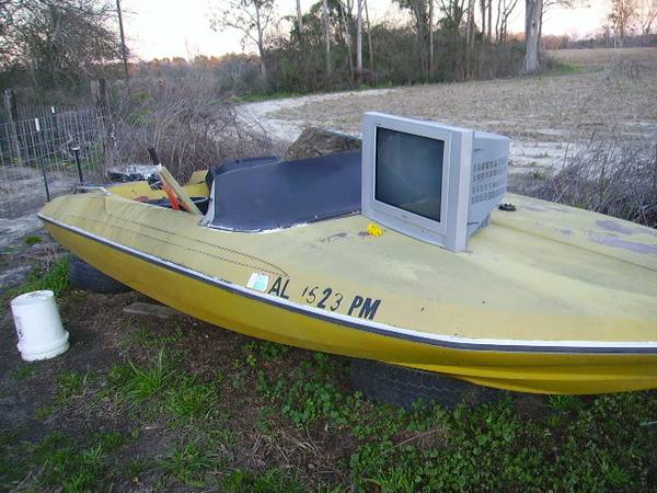 Free boat yellow hull plus some other stuff