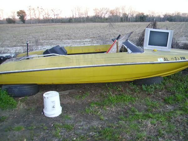 Free yellow boat hull