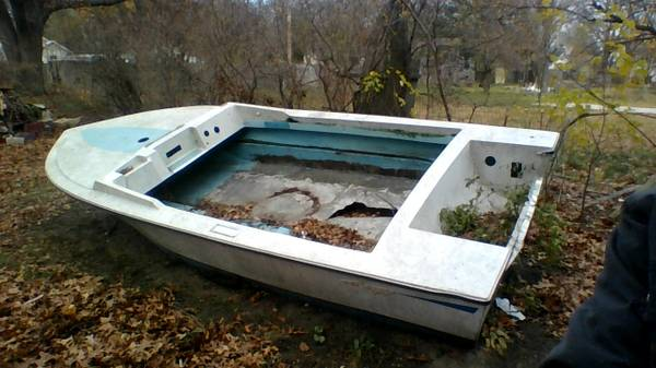 Free stripped powerboat hull