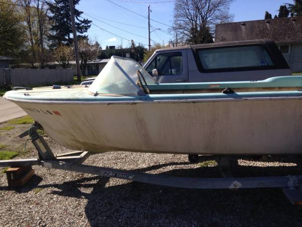 16 foot hull old school hull project boat