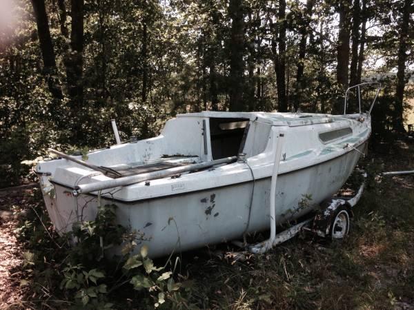 Free sailboat on trailer