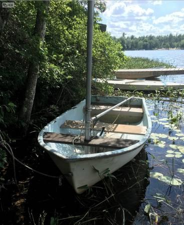 Small sailboat row boat