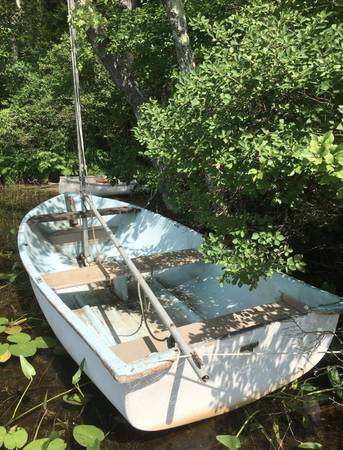 Fiberglass boat from the late 1950s