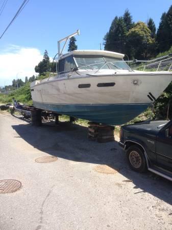 30 ft bayliner converted fish shrimp boat