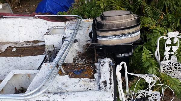 Cobia with motor to be repaired