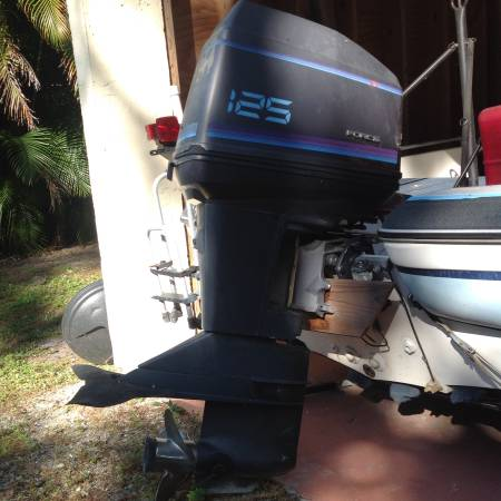 125 hp 2-cycle outboard attached