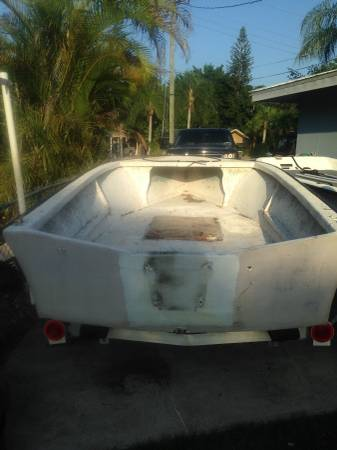 15 foot boat hull solid
