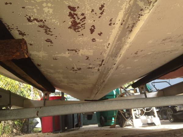 solid boat hull for free 15 foot fiber glass