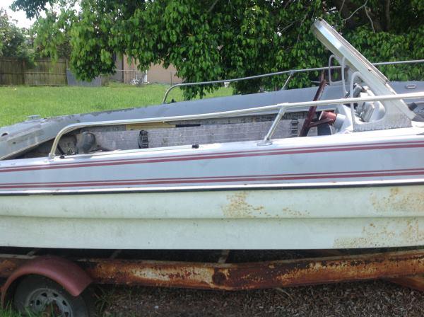 Boat on trailer Cape Coral