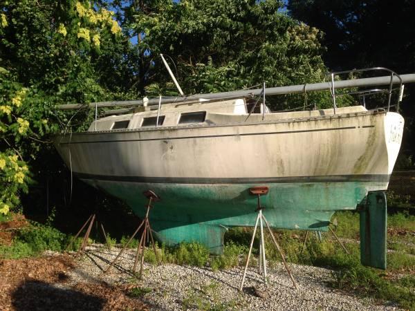 Boat Yard clear the sailboats