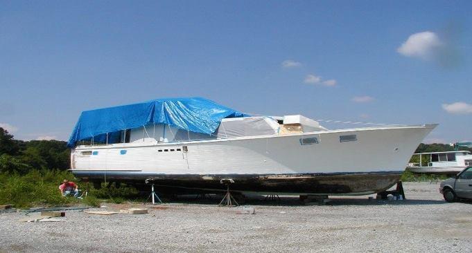 1963 Stephens Flush Deck Cruiser, 43' with a 12' beam Mahogany Yacht