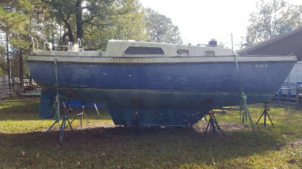 27 Watkins shallow draft sailboat