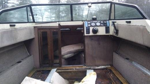 1984 Cobia Odyssey 195 - 19 1/2' cuddy cabin interior