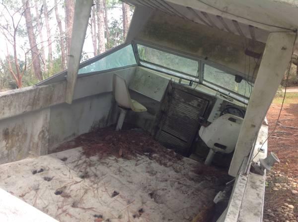 old boat interior