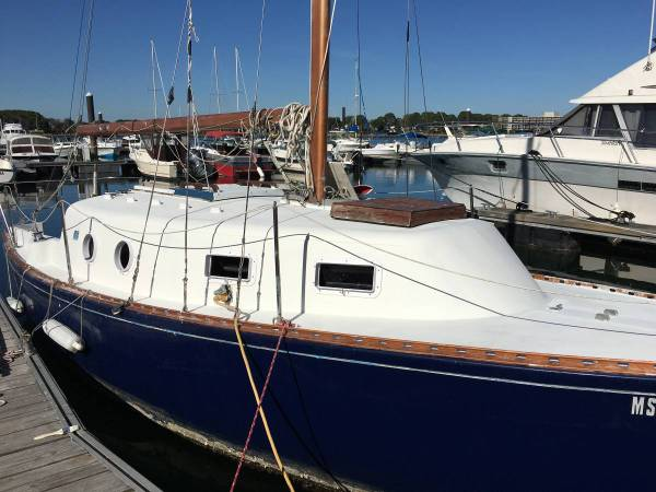26' Grampian Sailboat on deck