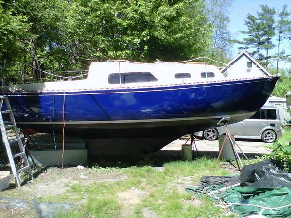 26' Grampian Sailboat on stands new paint