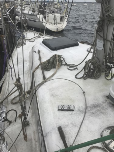 Irwin 30 on deck