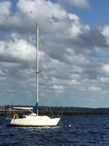 30 Irwin at anchor