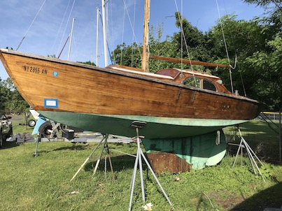 25' dutch wooden sloop profile port