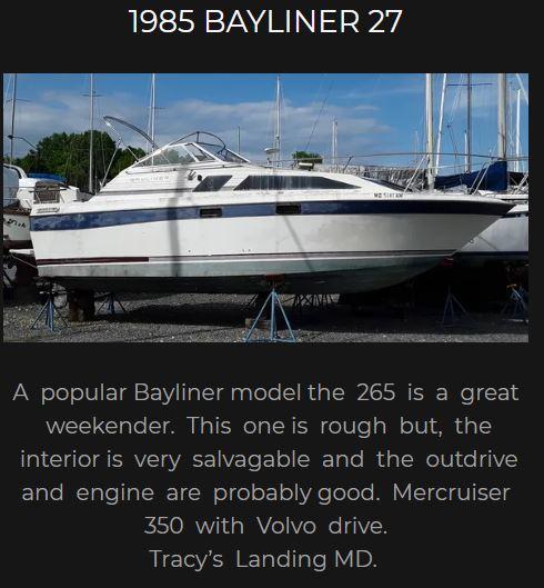 1985 Bayliner 27