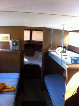 1966 Chris Craft 31' Commander inside cabin forward