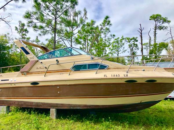 25 foot cabin cruiser project boat