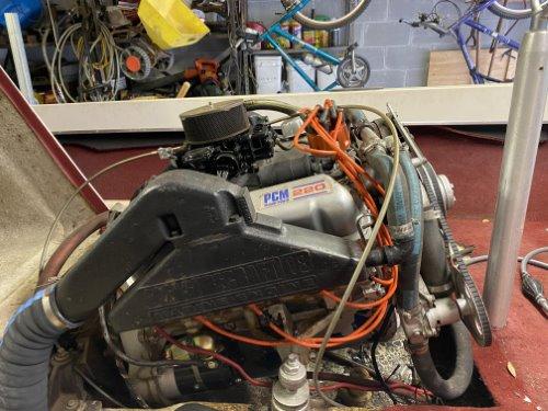 SkiTique running engine