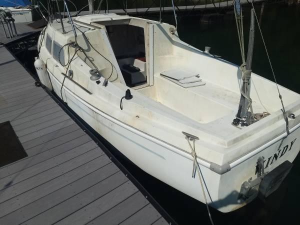 1971 Coronado 23 sailboat cockpit