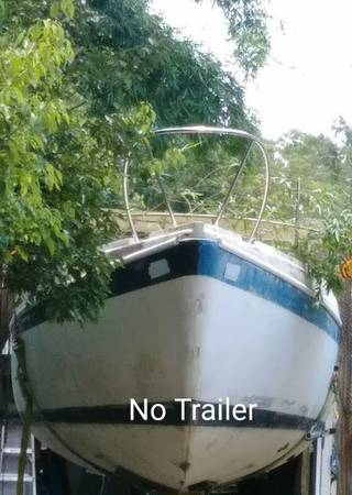 1972 Columbia sailboat 26ft bow view