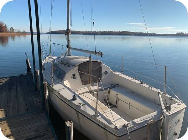 1979 Pearson sailboat 23 foot afloat