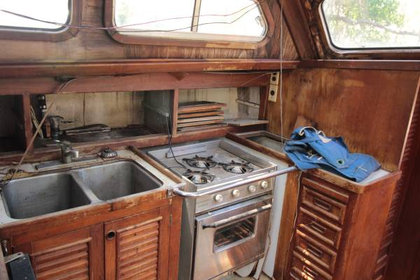 Cheoy Lee Pilothouse Galley